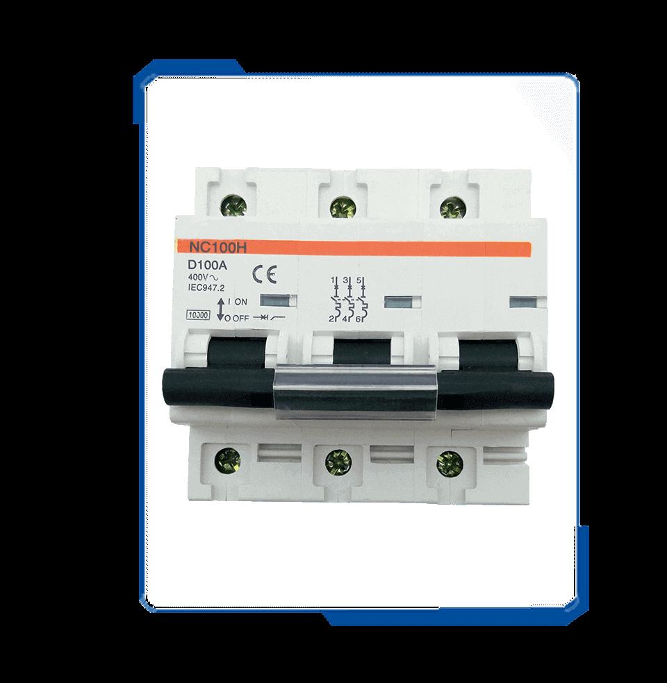 NC100 100a three phase house circuit breaker