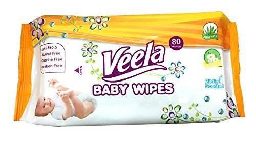 Baby Wipes - 100% biodegradeable Veela Brand