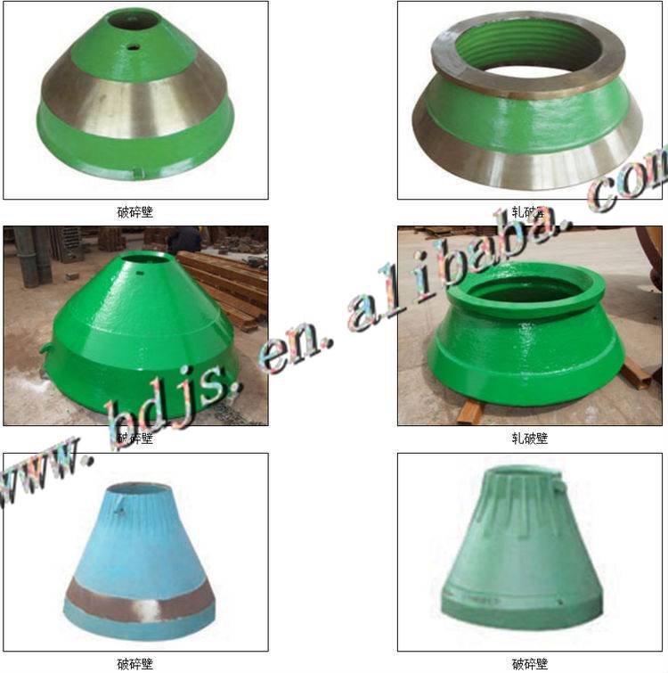 crusher wear parts of METSO and SANDVIC crusher