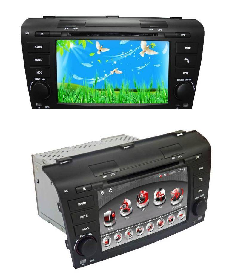 7.0 inch car GPS DVD player for Mazda 3(Digital screen)