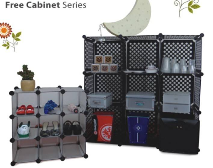 supply plastic free cube storage shelf