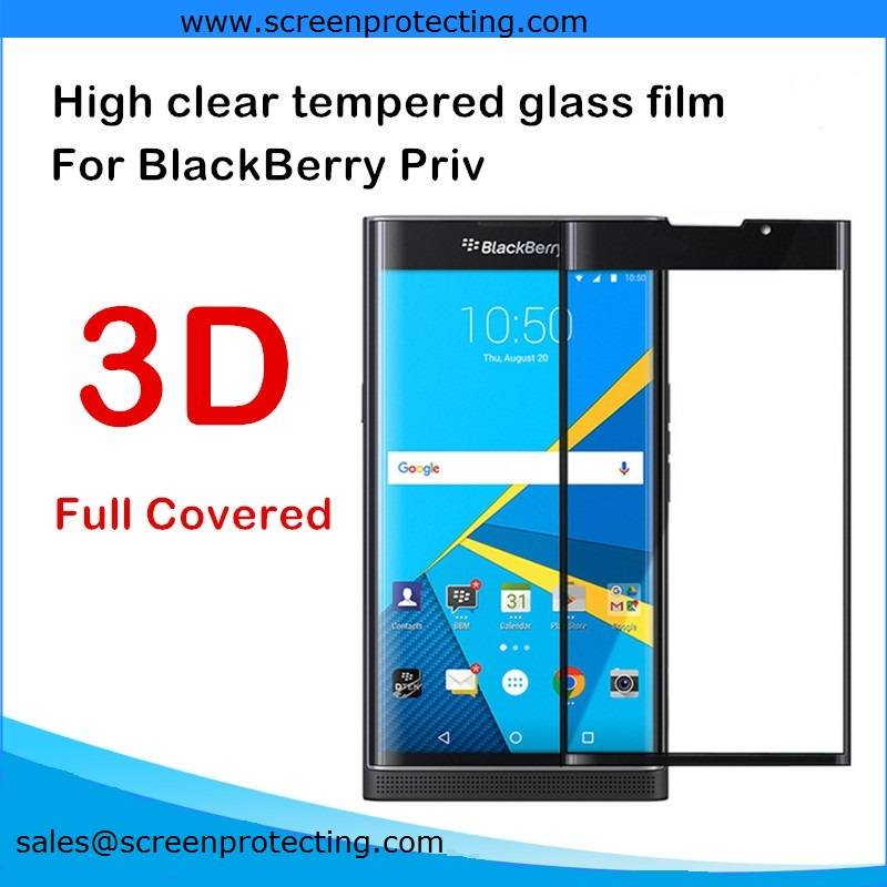 Wholesale Mobile Phone Accessories 9H Tempered Glass Screen Protector for BlackBerry Priv