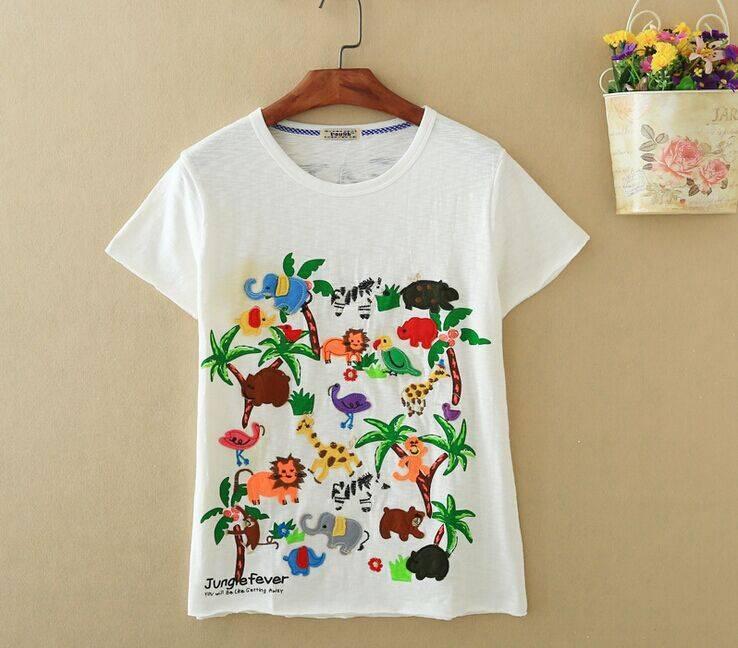 2015 New Lady Jungle Fever Short SleeveT-Shirt
