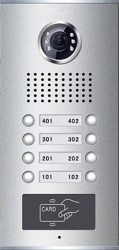 Video Door Phone for Apartment with Card Reade(8-button)