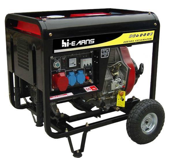 Open frame type air-cooled diesel generators