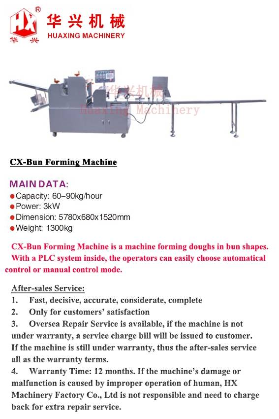 CX-Bun Forming Machine