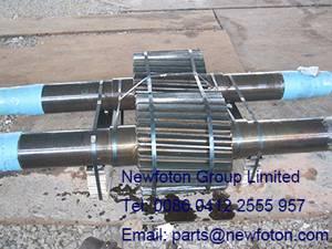 Gear shaft of rotary kiln