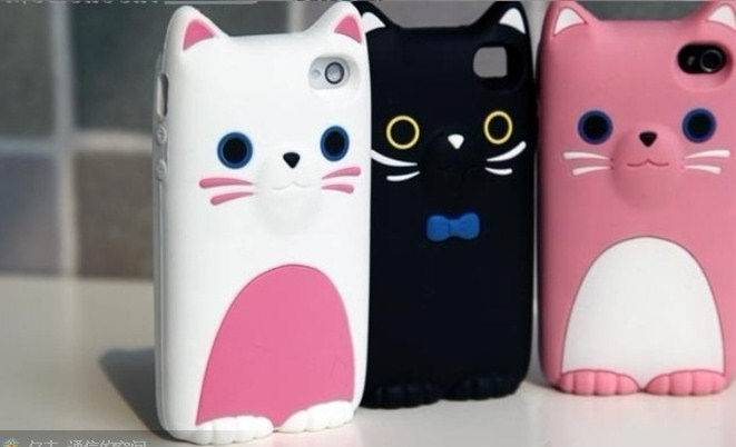 Lovely Cat Mobile Phone Back Case/Cover for Iphone