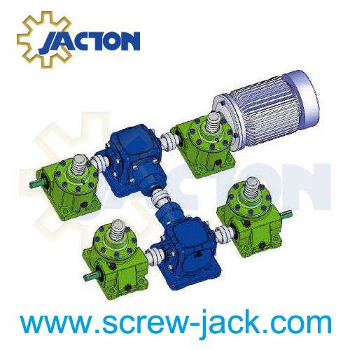 screw jack lifting lowering system
