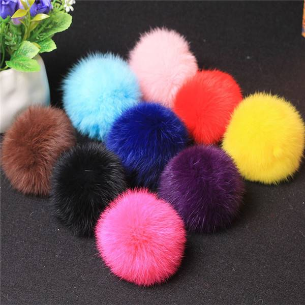 Fashion Rex Pom Pom Fur Ball Keychain