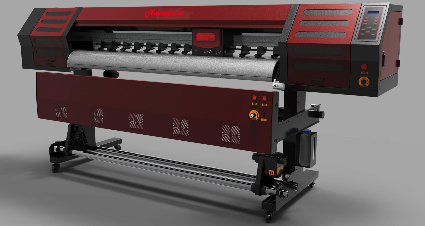 Digital eco solvent vinyl printer machine NVP1600XTC