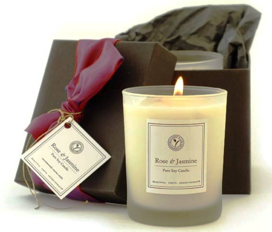 glass soy candle glass white Paraffin wax gifts package