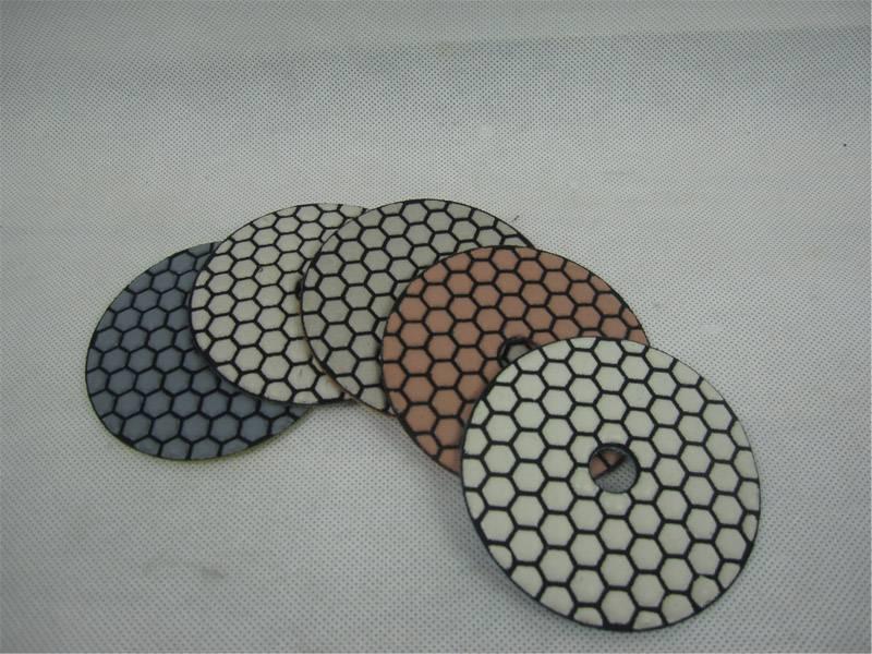 4inch/100mm diamond dry polishing pad for stone granite marble