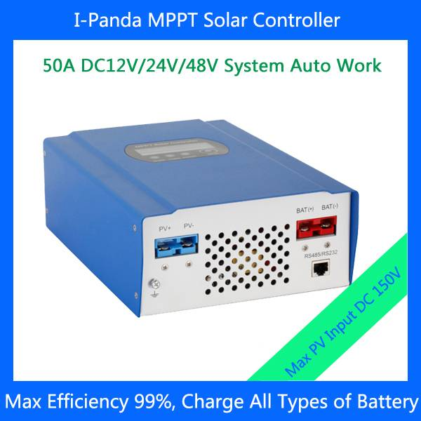 2015 New arrival Smart solar charge controller 50A 12V/24V/48V automatically smart MPPT solar contro