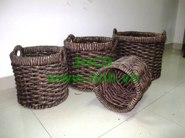 Water hyacinth basket SD 5434/4Br
