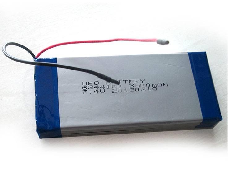 7.4V 3600mAh Lithium Polymer Battery