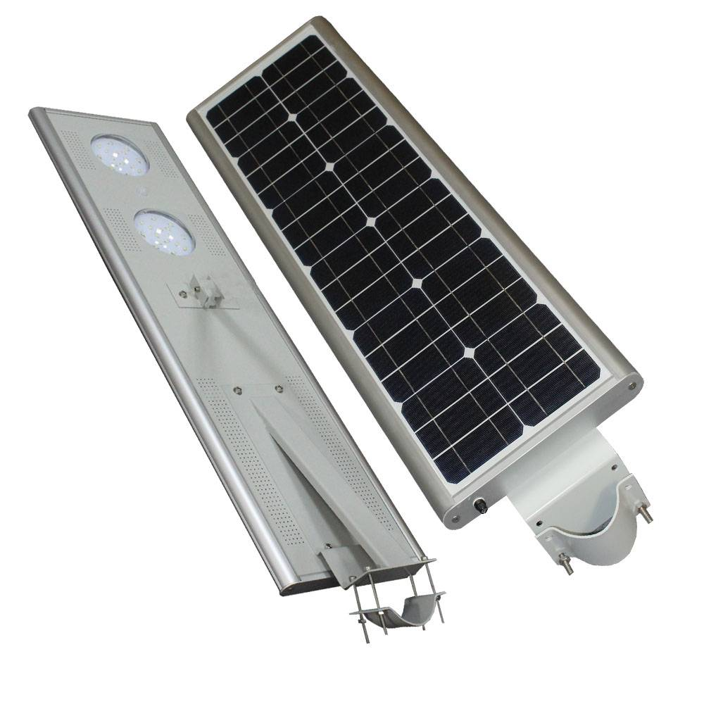 Integrated solar lights, All in one solar street lights with Bridgelux Led Lamp