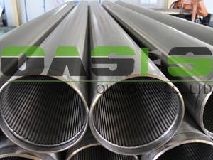 Threaded 316L slot tubes for well drilling
