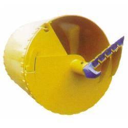 Single door double-dip spin bucket bucket teeth