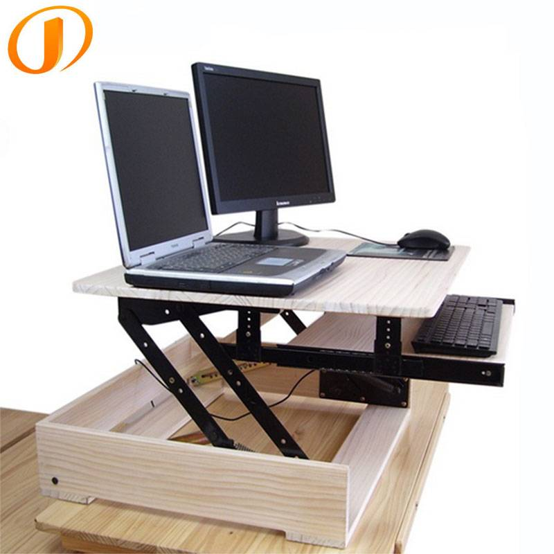 wooden sit and stand desk