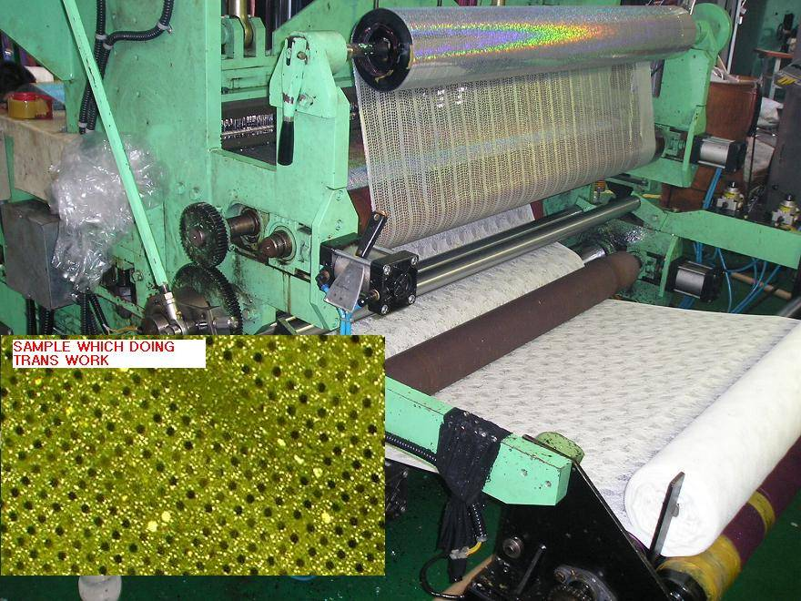 Trans spangle machine for fabric