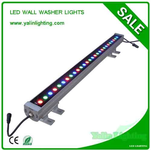 RGB LED wall washer lighting, outdoor IP65 square lights, waterproof light bar