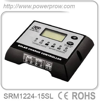 Digital 12/24v 15a solar charge controller solar regulator