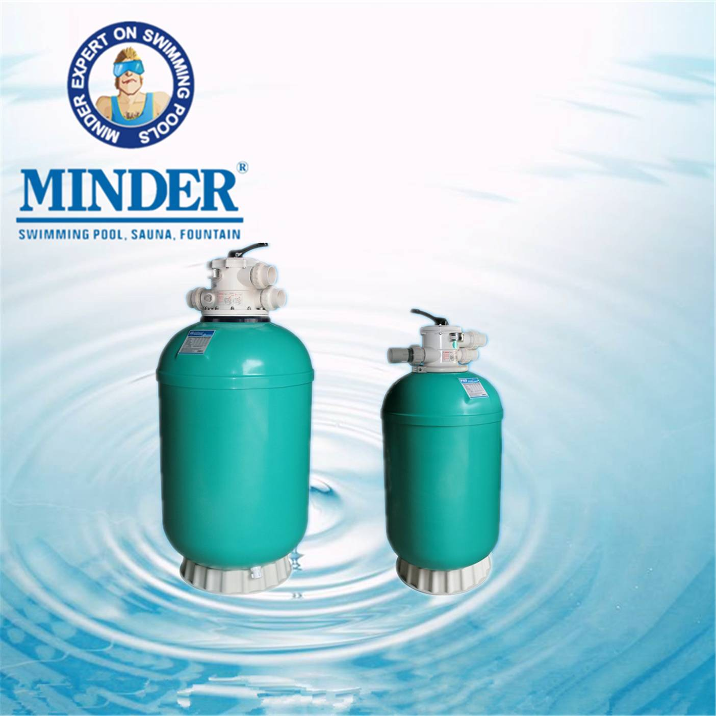 GH series 1.5 valve swimming pool filter deep bed sand filter