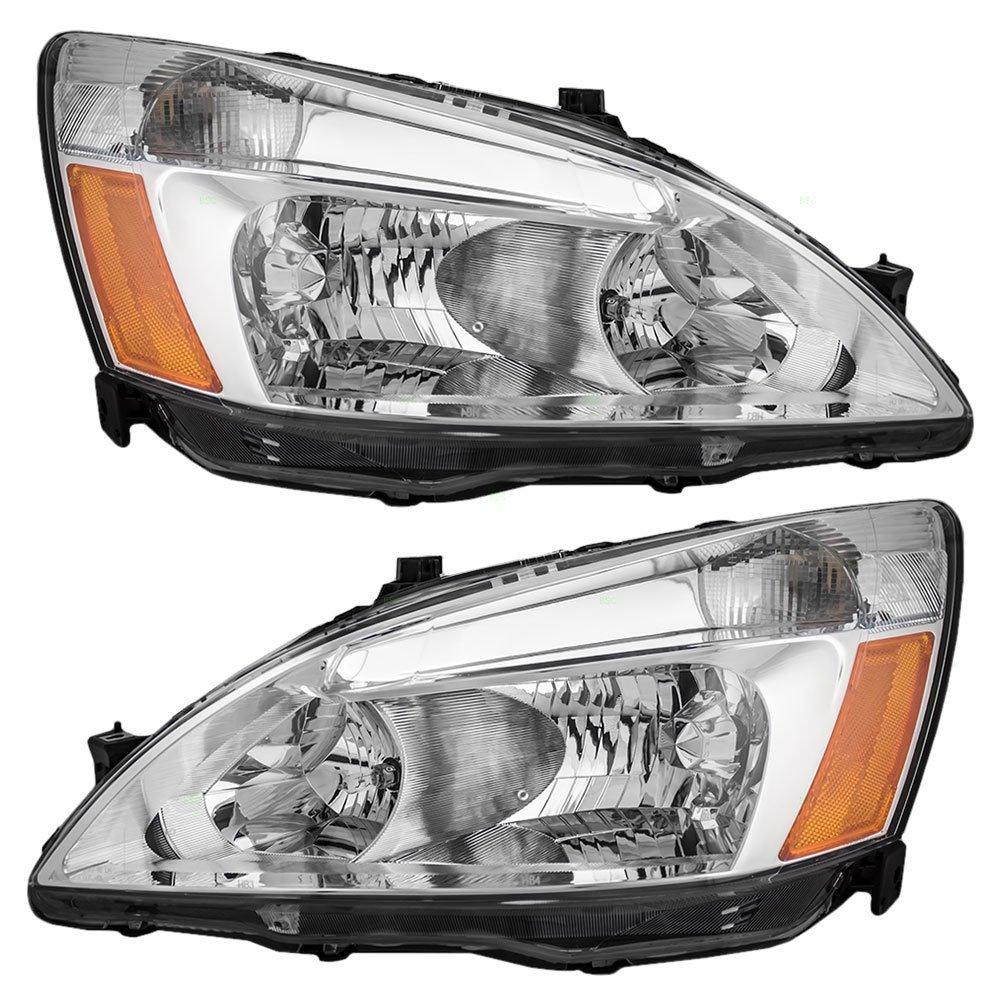 Headlights Headlamps Replacement for Honda Accord 33151-SDA-A01 33101-SDA-A01
