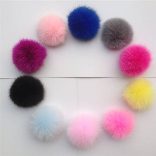 Large Genuine Fox Fur Pom Pom Ball