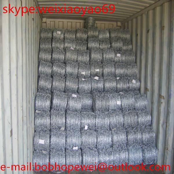 high quality galvanized and pvc cheap barbed wire, barbed wire price per roll, barbed wire