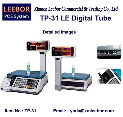 Digital Price Computing Scale, POS Supermarket Retail Thermal Printer Counting Weight Desktop Scales
