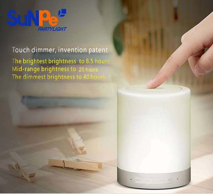 Touch Sensor Lamp Bluetooth speaker with Warm White Color only