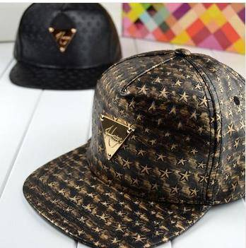 2014 Korean version the influx male and female models hat H Series triangular mark Bronze Star level