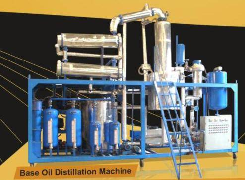 Multi-function Base Oil Distillstion BOD series black dirty engine oil purifier/lube oil purifier