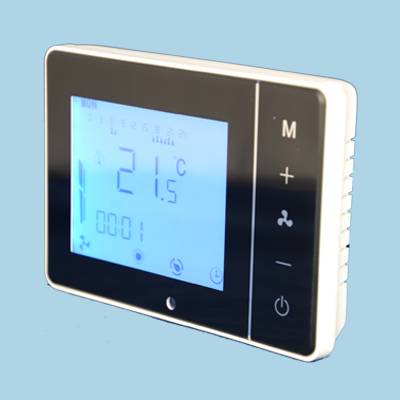CE Three Fan Speed Weekly Program Fan Coil Thermostat with Remote Controller