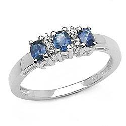 fashion jewelry silver sapphire ovel ring,925 silver jewelry,gemstone ring,fine jewelry