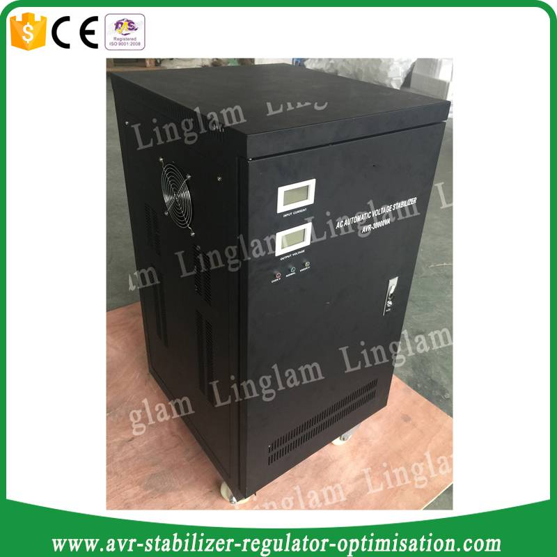 30KVA 100% copper automatic voltage stabilizer