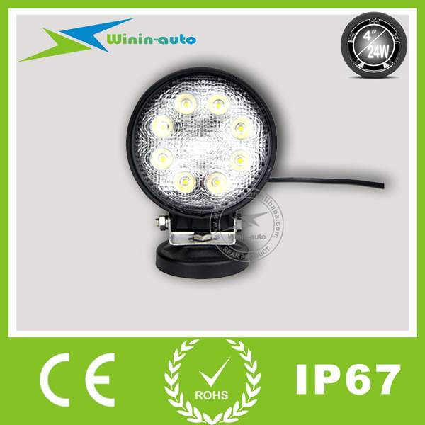 4 24W round LED work Light for cars ships 1850 Lumen WI4241