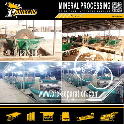 Gold Ore Grinding Wet Pan Mill for Mineral Separation