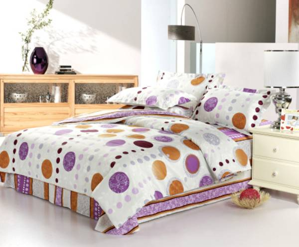 reactive cotton bed sheet set