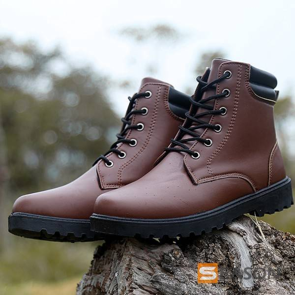 marting boots with cotton high cut