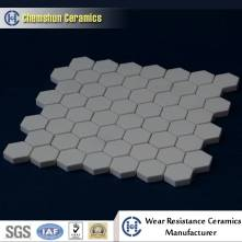 Easy installed abrasion resistant alumina hex tile for mineral processing