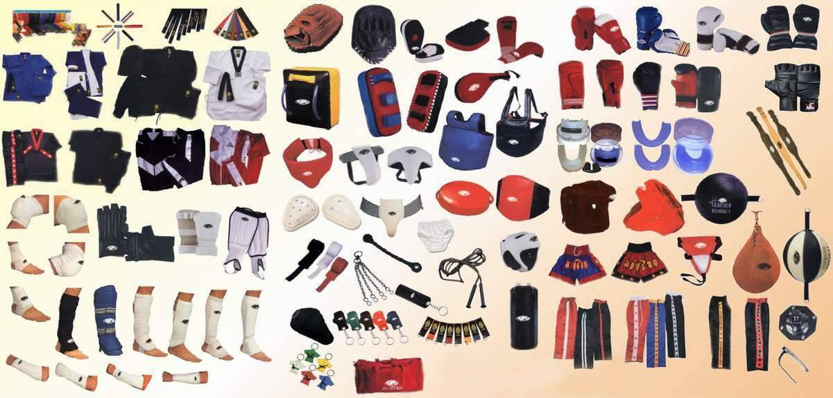 Martial Arts Uniforms & Accessories, Boxing Gloves & Equipments, Sports Tracksuits & Leisure Wears