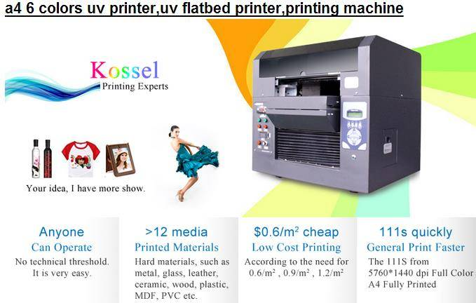 a4 6 colors uv printer,uv flatbed printer,printing machine