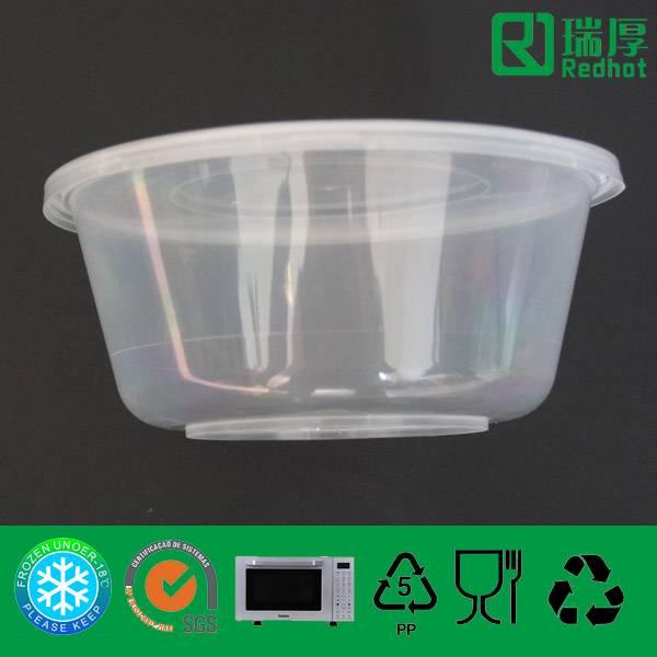 Clear Microwave Safe Plastic Storage Box (800ml)