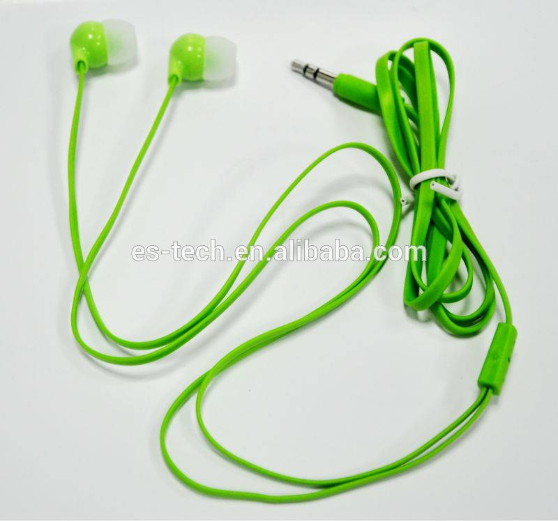 Colorful flat cable earbud made in China Factory