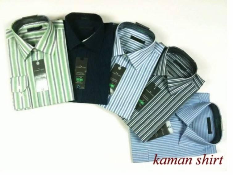 Mens stripe dress shirt