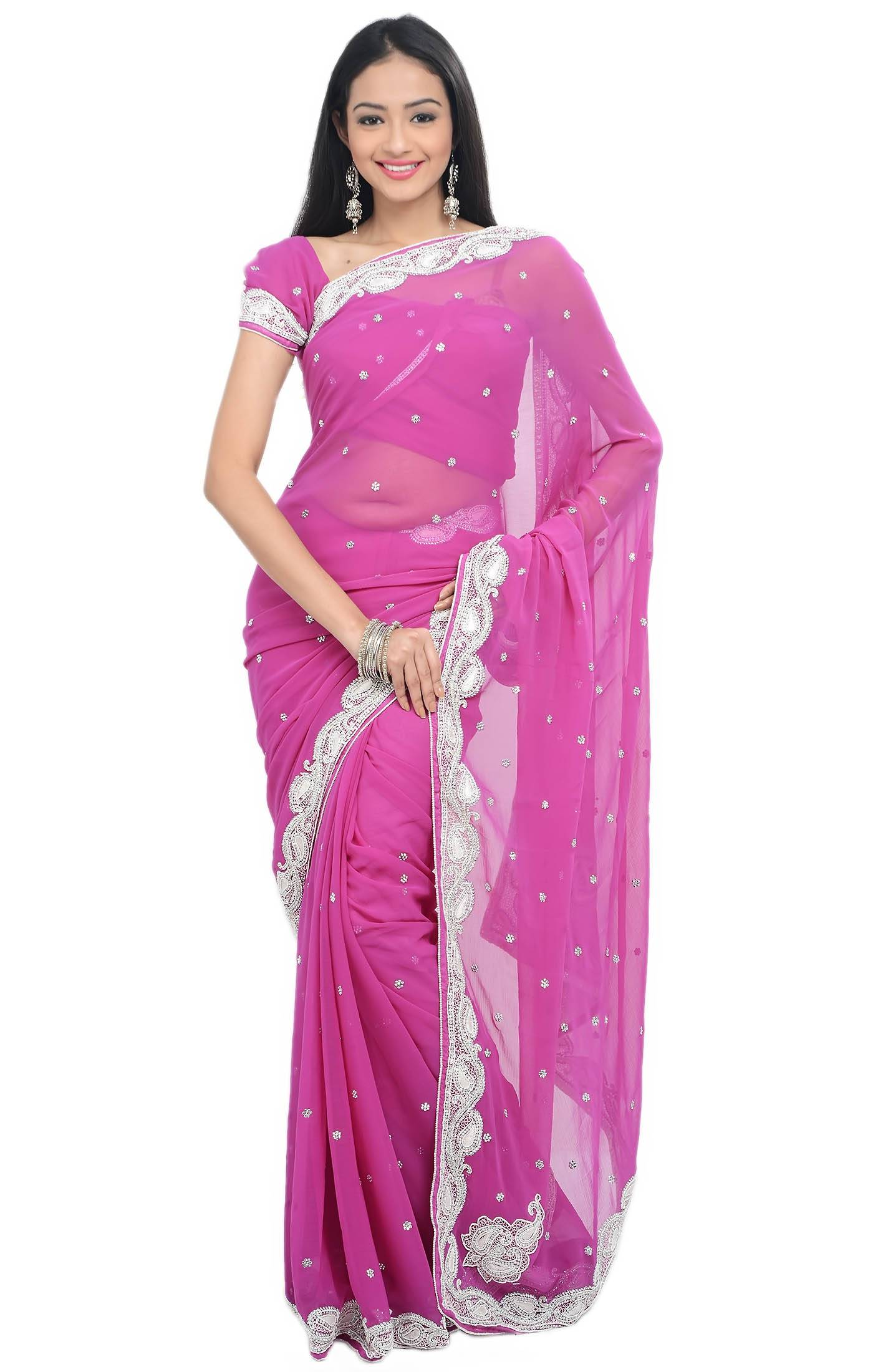 Supplier of Ladies hand work Net Sarees