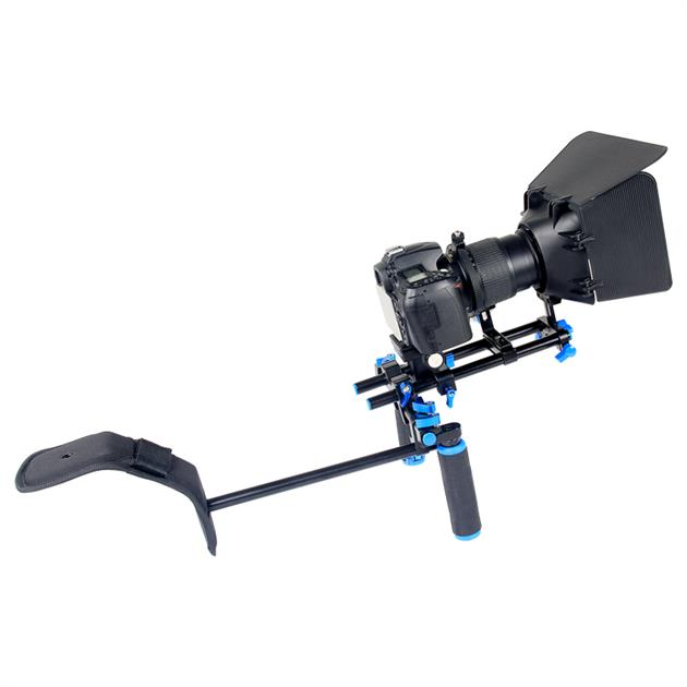 YELANGU Camera DSLR Shoulder Mount Rig With Quick Release Baseplate, Follow Focus, Matte Box